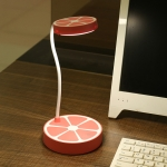 Creative Three-gear Touch Eye Protection USB Charging LED Desk Lamp(Pink Orange )