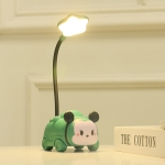 2 PCS Children Learning Reading Pen Holder USB Table Lamp(Green Chinchilla Flowers )