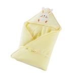 90×90 400g  Baby Cotton Soft Swaddling Quilt Thickness Optional(Yellow)