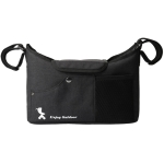 Baby Diaper Storage Carriage Bag Mommy Bag Outdoor Baby Bottle Storage Bag, Colour: Black