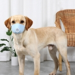 3 PCS Dog Dust And Haze Respirator Mask Pet Protective Mouth Cover, Specification:S(Light Blue)