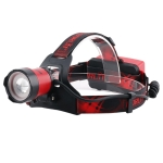 BORUIT XM-L2 USB Charging Strong Light Zoom Push Handle Focusing Fishing Headlight (Headlight+USB Cable+2xBattery)