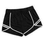 Women Plus Size Casual Sports Shorts (Color:Black Size:XXXXL)