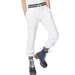 Women High Waist Loose Sport Casual Trousers Pants (Color:White Size:S)