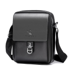 WEIXIER 8643 Men Business Casual PU Leather Handbag Crossbody Bag (Black)