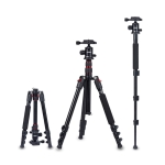 TRIOPO Oubao A-208S Adjustable Portable  Aluminum Aalloy Tripod with Ball Head for SLR Camera