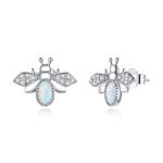 S925 Sterling Silver Little Bee Women Earrings
