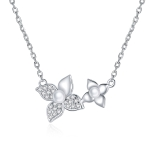 S925 Sterling Silver Hydrangea Women Nacklace Jewelry