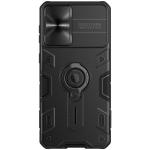 For Samsung Galaxy S21+ 5G NILLKIN Shockproof CamShield Armor Protective Case with Invisible Ring Holder(Black)