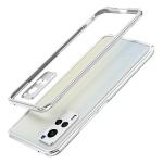 For vivo X60 Aurora Series Lens Protector + Metal Frame Protective Case(Silver)