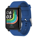 E04S 1.3 inch TFT Color Screen IP68 Waterproof Smart Bracelet, Support Body Temperature Monitoring / Blood Oxygen Monitoring / Heart Rate Monitoring, Style: TPU Strap(Blue)