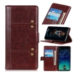 For Samsung Galaxy A02s(US Version) Peas Crazy Horse Texture Horizontal Flip Leather Case with Holder & Card Slots & Wallet(Brown)