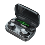 M5 Bluetooth 5.1 TWS Wireless Bluetooth Earphone with Charging Box, Support Touch & Siri & Call(Black)