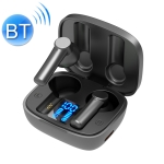 LB-8 Bluetooth 5.0 Stereo Wireless Bluetooth Earphone with Charging Box & LED Battery Display, Support Fingerprint Touch & Call & Voice Assistant & Switch Between Chinese and English (Black)