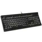 HJK970-4 104-keys Square Ice Crystal Two-color Chocolate Keycap Colorful Backlit Wired Mechanical Gaming Keyboard (Black)
