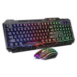SHIPADOO D620 104-key Wired RGB Color Cracked Backlight Gaming Keyboard Mouse Kit for Laptop, PC