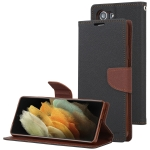 For Samsung Galaxy S21+ 5G GOOSPERY FANCY DIARY Horizontal Flip PU Leather Case with Holder & Card Slots & Wallet (Black)