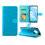 For Xiaomi Mi 10T Lite Crazy Horse Texture Leather Horizontal Flip Protective Case with Holder & Card Slots & Wallet & Photo Frame(Baby Blue)