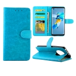 For Huawei Mate 40 Crazy Horse Texture Leather Horizontal Flip Protective Case with Holder & Card Slots & Wallet & Photo Frame(Baby Blue)