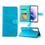 For Samsung Galaxy S21+ 5G/S21 Plus 5G Crazy Horse Texture Leather Horizontal Flip Protective Case with Holder & Card Slots & Wallet & Photo Frame(Baby Blue)
