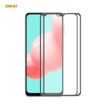 For Samsung Galaxy A32 / M12 / A12 2 PCS ENKAY Hat-Prince Anti-drop Full Glue Tempered Glass Full Screen Film Anti-fall Protector