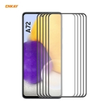 For Samsung Galaxy A72 4G / 5G 5 PCS ENKAY Hat-Prince Anti-drop Full Glue Tempered Glass Full Screen Film Anti-fall Protector