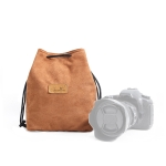 S.C.COTTON Liner Shockproof Digital Protection Portable SLR Lens Bag Micro Single Camera Bag Square Khaki L