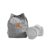 S.C.COTTON Liner Shockproof Digital Protection Portable SLR Lens Bag Micro Single Camera Bag Square Gray L