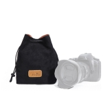 S.C.COTTON Liner Shockproof Digital Protection Portable SLR Lens Bag Micro Single Camera Bag Square Black L