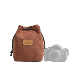 S.C.COTTON Liner Shockproof Digital Protection Portable SLR Lens Bag Micro Single Camera Bag Square Brown M