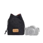 S.C.COTTON Liner Shockproof Digital Protection Portable SLR Lens Bag Micro Single Camera Bag Square Black M