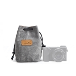 S.C.COTTON Liner Shockproof Digital Protection Portable SLR Lens Bag Micro Single Camera Bag Square Gray S