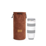 S.C.COTTON Liner Shockproof Digital Protection Portable SLR Lens Bag Micro Single Camera Bag Round Brown L