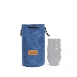 S.C.COTTON Liner Shockproof Digital Protection Portable SLR Lens Bag Micro Single Camera Bag Round Blue M