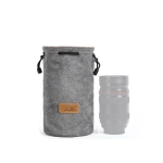S.C.COTTON Liner Shockproof Digital Protection Portable SLR Lens Bag Micro Single Camera Bag Round Gray M
