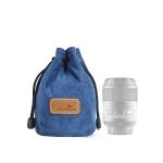 S.C.COTTON Liner Shockproof Digital Protection Portable SLR Lens Bag Micro Single Camera Bag Round Blue S