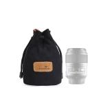 S.C.COTTON Liner Shockproof Digital Protection Portable SLR Lens Bag Micro Single Camera Bag Round Black S