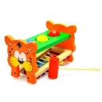 Wooden Tiger Knocking Piano Music Toy Baby Early Education Instrument Toy
