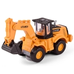 Children Light And Music Simulation Electric Excavator Car Toy, Style: Four-wheel Excavator