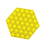 5 PCS Children Puzzle Mental Arithmetic Toy Silicone Pressing Table Game, Random Color Delivery(Hexagon)