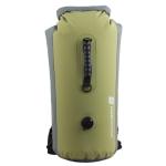 LUCKSTONE 60L Outdoor Rafting And River Tracing Waterproof Backpack Shoulder Bag Inflatable Swimming Bag Tote Bucket Bag(Bean Green)