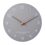 Round Silent Clock Walnut Wall Clock
