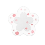 3 PCS Home Cherry Blossoms Silicone Table Mat Non-Slip Mat Insulation Mat, Specification: White Pot Pad