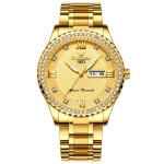 FNGEEN S888 Men Local Non Mechanical Solid Belt Watch Luminous Quartz Watch(Full Gold Gold Surface)