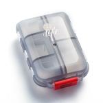 Mizi Small Pill Box Portable Dispensing Medicines Boxes, Colour: 10 Grid (Gray)