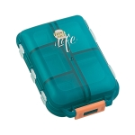 Mizi Small Pill Box Portable Dispensing Medicines Boxes, Colour: 10 Grid (Green)