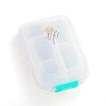 Mizi Small Pill Box Portable Dispensing Medicines Boxes, Colour: 10 Grid (White)