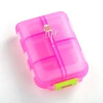 Mizi Small Pill Box Portable Dispensing Medicines Boxes, Colour: 10 Grid (Pink)