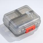 Mizi Small Pill Box Portable Dispensing Medicines Boxes, Colour: 7 Grid (Grey)