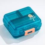 Mizi Small Pill Box Portable Dispensing Medicines Boxes, Colour: 7 Grid (Green)